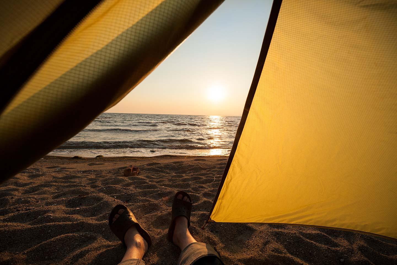 Camped On The Coast of The Aegean Sea