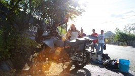 "January 7, 2012 – January 14, 2012 When we left the beach, our first mission was to ride through San Salvador, the capital of El Salvador. It is known as […]<!-- AddThis Sharing Buttons below -->                 <div class=""addthis_toolbox addthis_default_style addthis_"" addthis:url='http://notallthosewhowanderarelost.ca/the-accident/' addthis:title='The Accident' >                     <a class=""addthis_button_preferred_1""></a>                     <a class=""addthis_button_preferred_2""></a>                     <a class=""addthis_button_preferred_3""></a>                     <a class=""addthis_button_preferred_4""></a>                     <a class=""addthis_button_compact""></a>                     <a class=""addthis_counter addthis_bubble_style""></a>                 </div>"