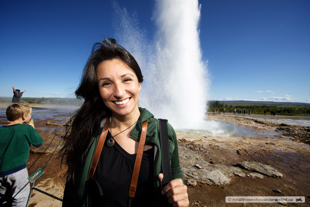 Paula At Geysir