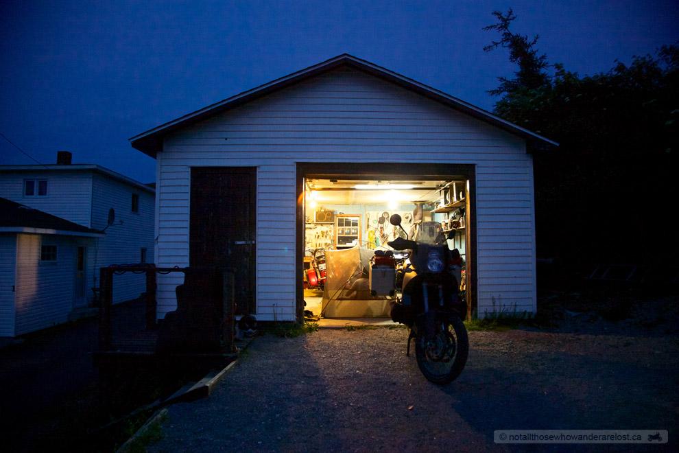 Camped In Richard's Garage