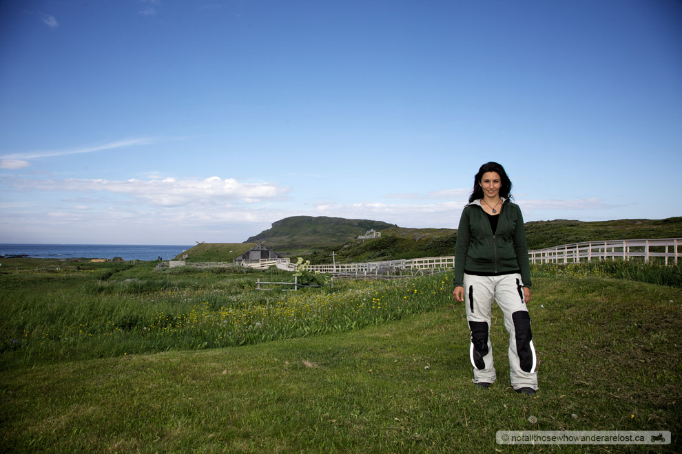 Paula at L'Anse aux Meadows