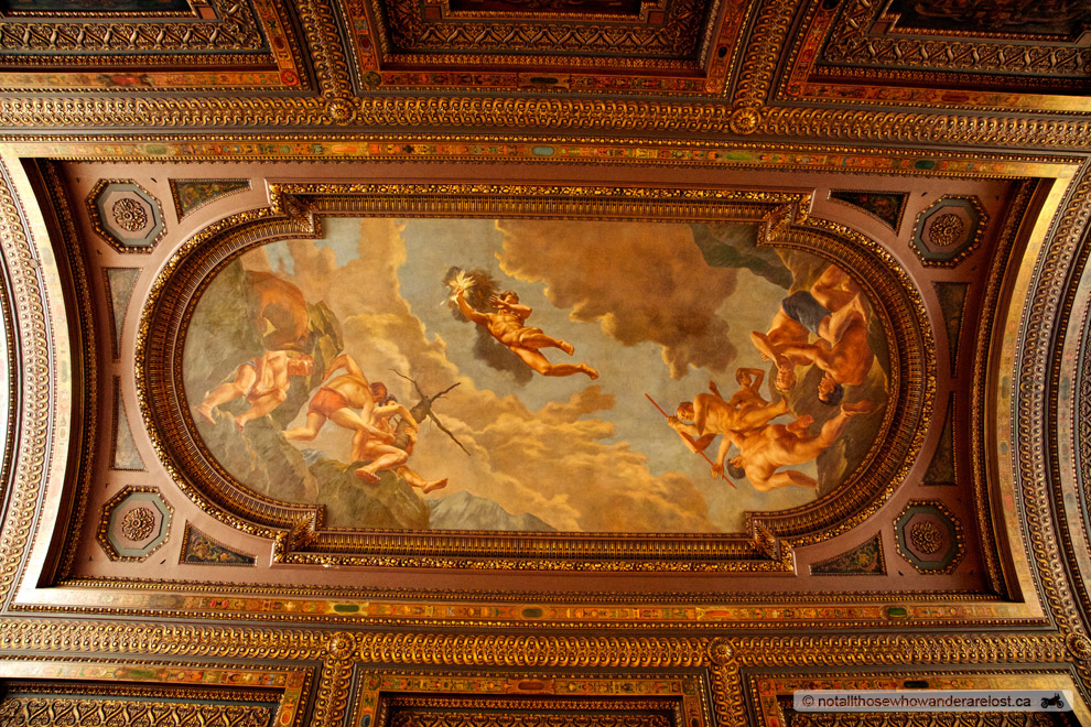 The Ceiling In The New York Public Library