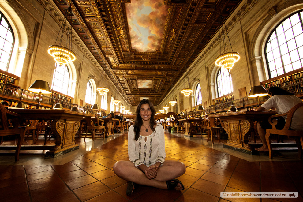 Paula In The New York City Public Library