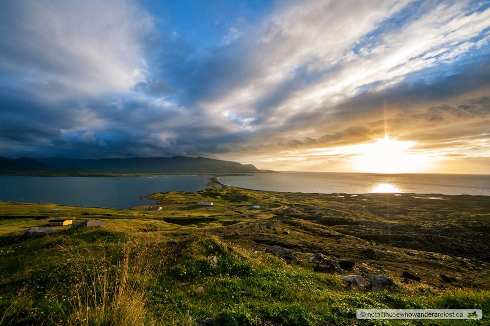 Sunset Over Skagafjörður